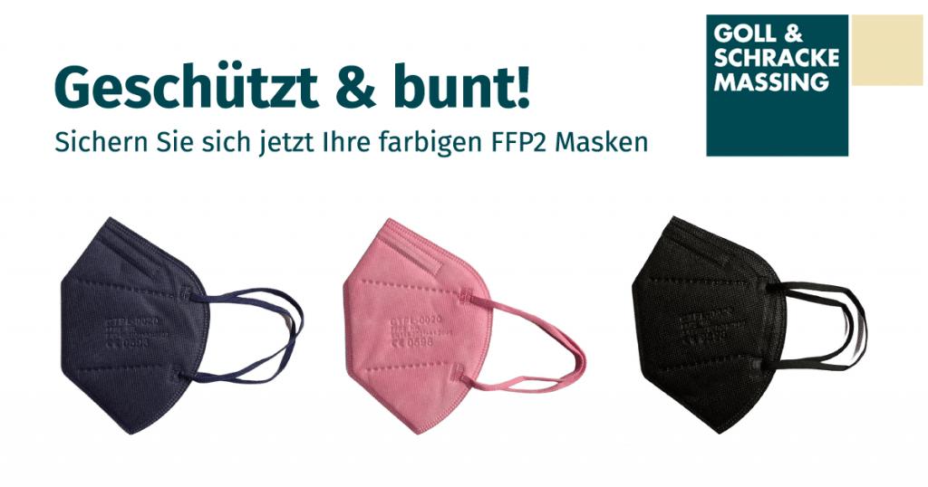 Bunte FFP2 Masken bei Goll-Schracke Massing